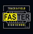 athletic-sport-high-school-typography-tee vector image