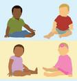 babies different ethnicities vector image vector image