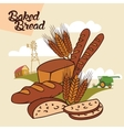 Baked bread advertising vector image