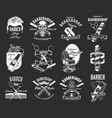 barbershop and haircut icons hipster retro signs vector image vector image