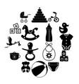 basimple icon set vector image vector image
