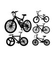 bicycle transportation silhouette vector image vector image