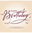 Birthday inscription vector image vector image