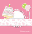 birthday party and baby shower design elements vector image vector image