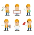 builder characters set vector image
