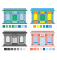 building house in four colors vector image