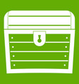chest icon green vector image vector image