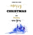 Christmas vertical frame card with winter vector image vector image