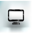 Computer display isolated icon screen monitor vector image vector image
