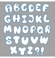 convex alphabet for design vector image vector image