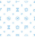 countdown icons pattern seamless white background vector image vector image