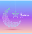creative moon and star design for ramadan kareem vector image vector image