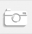 digital photo camera sign white icon with vector image vector image