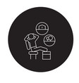 dreaming man black concept icon dreaming vector image