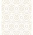 Elegant circular pattern in white vector image vector image