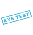Eye Test Rubber Stamp vector image vector image