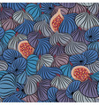 Fig Seamless pattern with half and whole fruit vector image vector image