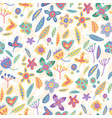floral seamless background in flat style vector image