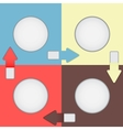 Four color squares with arrows vector image