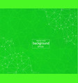 geometric green polygonal background molecule and vector image