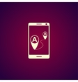 gps smartphoner icon vector image vector image