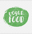 green grunge vegan food hand drawn logotype vector image vector image