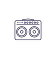 guitar amp line icon vector image vector image