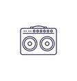 guitar amp line icon