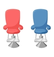 hairdresser barber chair vector image