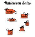 halloween sales vector image