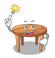 have an idea wooden table isolated on the mascot vector image