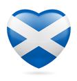 Heart icon of Scotland vector image