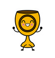 holy chalice isolated cute kawaii cartoon vector image vector image