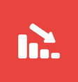 icon concept of sales bar graph moving down on vector image