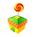 icon tent and candyshop vector image vector image