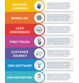 infographic banner template crm modern flat color vector image vector image