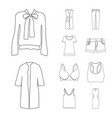 isolated object of woman and clothing logo vector image