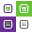 letter s square logo icon vector image vector image