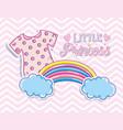 little princess cute card vector image