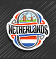logo for netherlands vector image