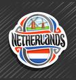 logo for netherlands vector image vector image