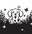 meadow puppy vector image