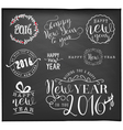 New Year and Christmas Badges and Labels vector image vector image