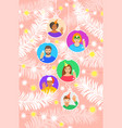 new year and christmas celebration festive banner vector image