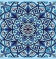 ornate blue pattern vector image