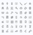 outline icon collection - household appliances vector image vector image