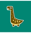 paper sticker on stylish background dinosaur vector image vector image