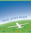 philadelphia flight destination vector image vector image