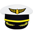 pilots hat vector image