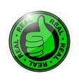 real thumbs up icon vector image vector image